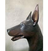 Zeus – Dobermann Bronzestatue