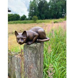 Maja – Liegende Katze Skulptur
