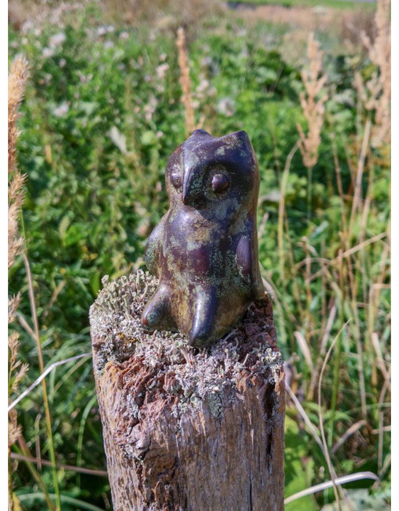 Eule – Handschmeichler Bronzefigur