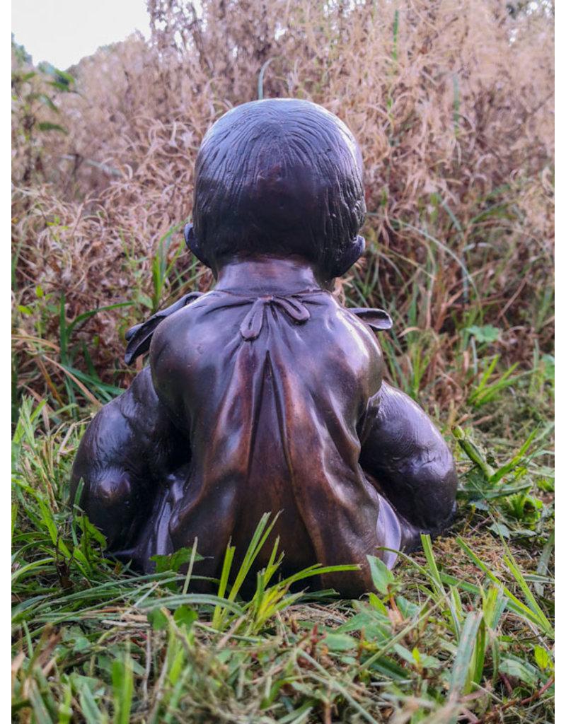 Franz – Junge mit Kaninchen  Bronzefigur