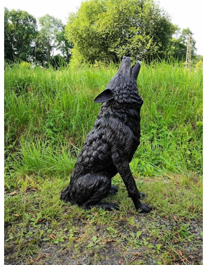 Fenris – Heulender Wolf Bronzestatue