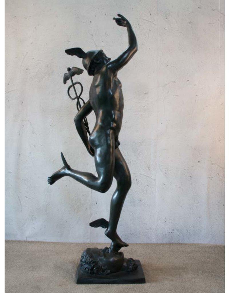 Merkur – Bronzeskulptur des Götterboten