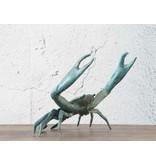 Brachyura – Bronzeskulptur einer Krabbe