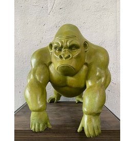 Titus – Gorilla Bronzefigur Abstrakt