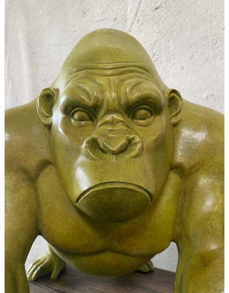 Titus – Gorilla Bronzeskulptur Abstrakt