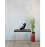 Ronja – Bronzefigur eines Hausschweins