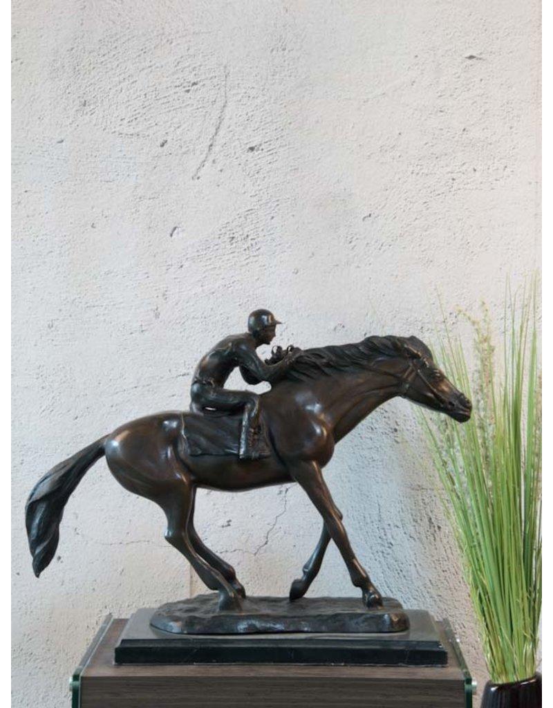 Odin – Jockey auf Pferd Bronzefigur