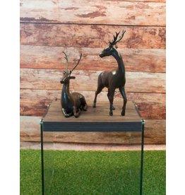 Hirsch Duo – Bronzefiguren Set