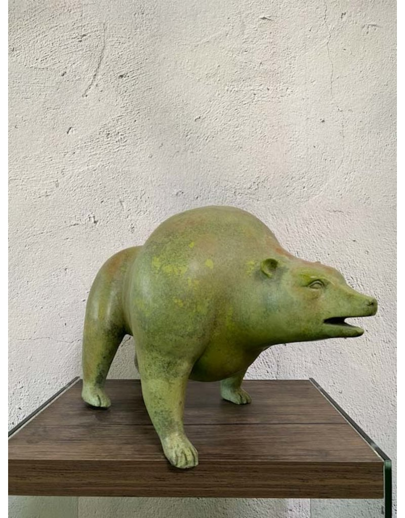 Vitus – Abstrakter Bär Bronzefigur