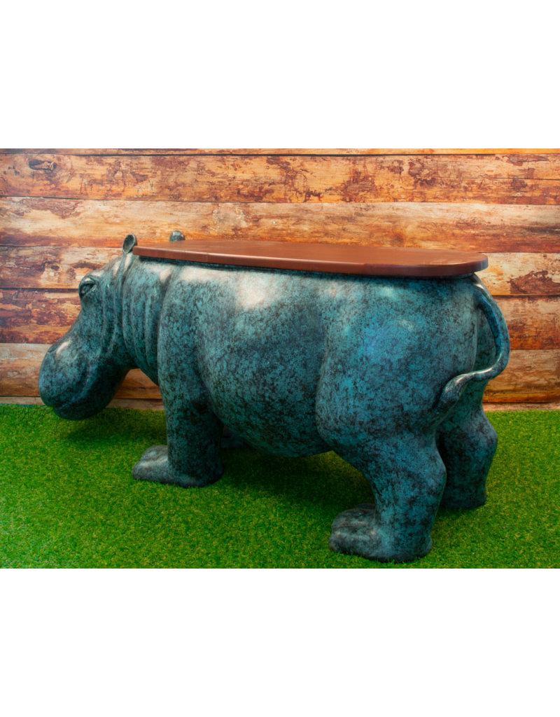 Hippo – Nilpferd Gartenbank Bronze