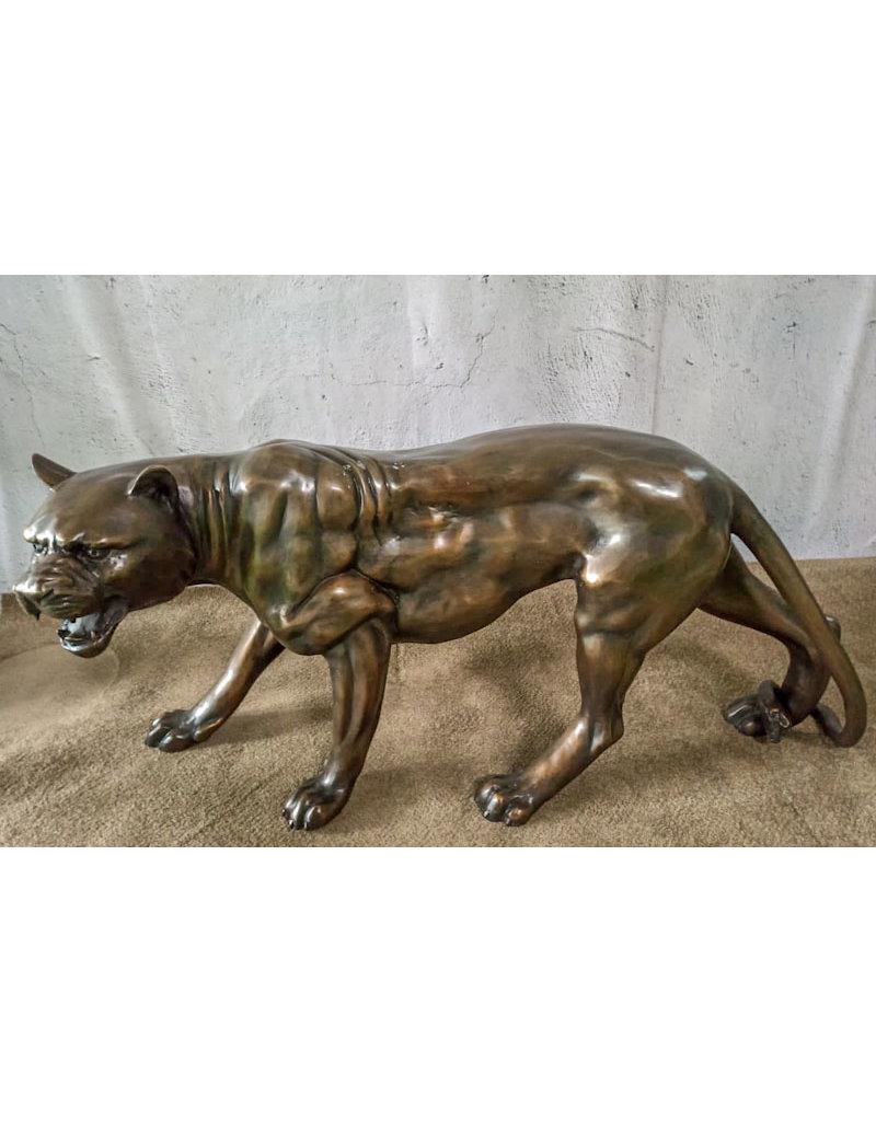 Balam – Jaguar Bronzeskulptur mit toller Patina