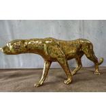 Moyenne Aristea – Goldfarbener Gepard Bronzefigur