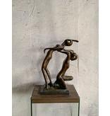 Yoga – Abstraktes Paar Bronzefigur