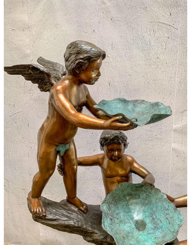 Grand Putto – Spielende Engel Wasserspeier Skulptur