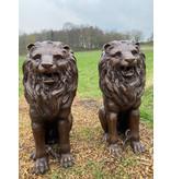 Tuteur Mios – Löwen Paar aus Bronze