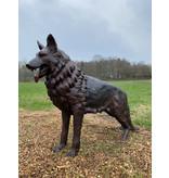 Grand Rex – Lebensgroßer Schäferhund Bronzeskulptur