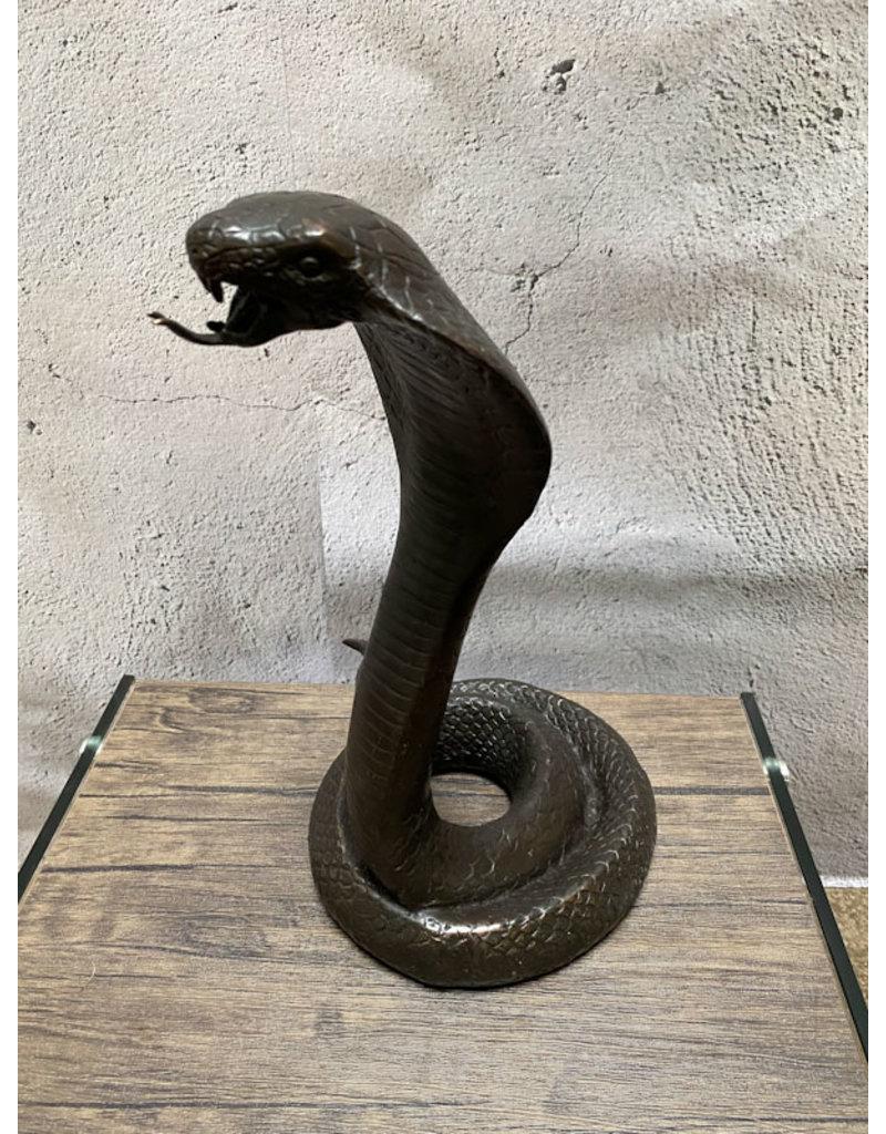 Elapid – Bronzeskulptur einer Kobra