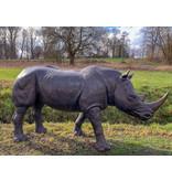 Rhino – Große Bronzefigur Nashorn