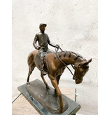 Shoemaker – Jockey auf Pferd Bronze