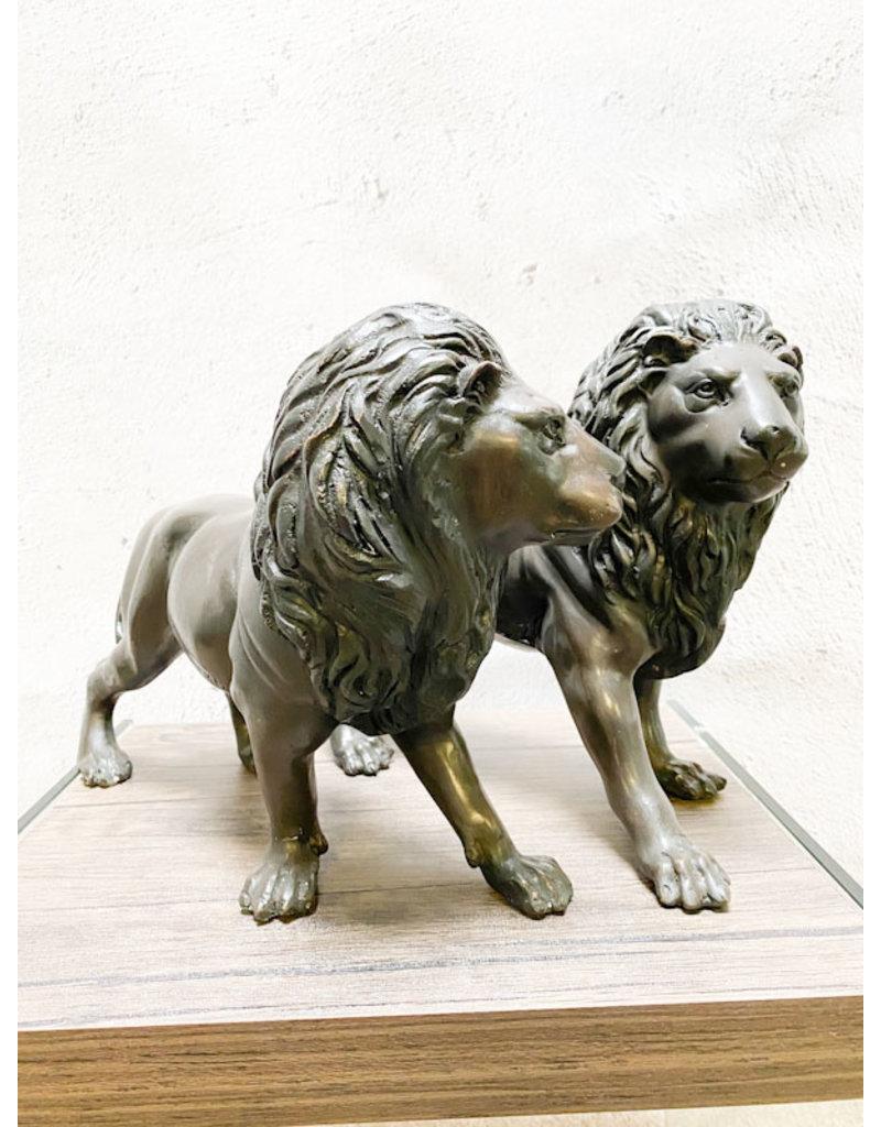 Leos – Löwen Bronzefiguren Set