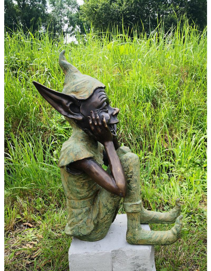 Fridolin – Kobold Bronzefigur Garten