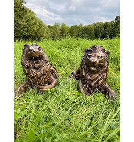 Linus Duett – Löwenpaar Bronzefiguren