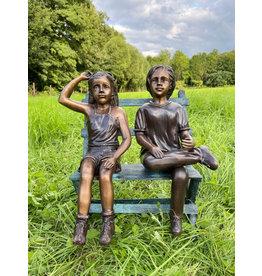 Hans und Greta – Bronzeskulptur