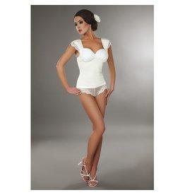 Livia Corsetti Fashion Pyjama-Top Ingrid in Weiß