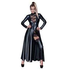 Noir Handmade Wetlook Mantelkleid