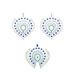 Bijoux Indiscrets Flamboyant Tattoo-Aufkleber - grün/blau