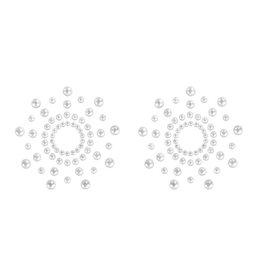 Bijoux Indiscrets Mimi Nippelhütchen - Perlmutt weiß