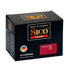 Sico Sico Color Kondome, rot mit Erdbeergeschmack - 50 Condoms
