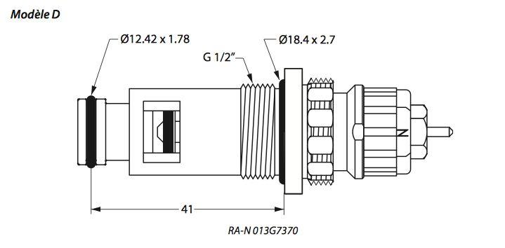Danfoss Danfoss insert voor Sanica paneelradiatoren  013G7370