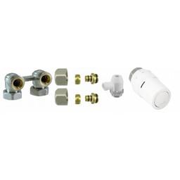 Aansluitset haaks 16x2 voor Vasco Flatline paneelradiatoren
