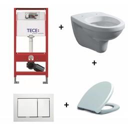 TECE TECE inbouwreservoir + TECE bedieningsplaat + Trevi wandcloset + Menir softclose zitting