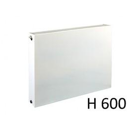 E.C.A. paneelradiator T33 vlakke voorplaat H600, diverse breedte