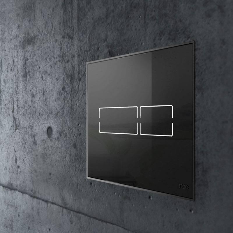 TECE TECElux mini bedieningsplaat touch bediening zwart glas