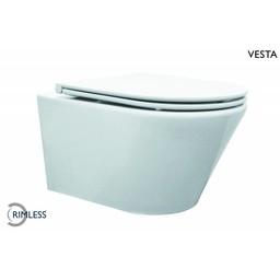 Wiesbaden Vesta Rimless wandcloset met Flatline 2.0 zitting wit