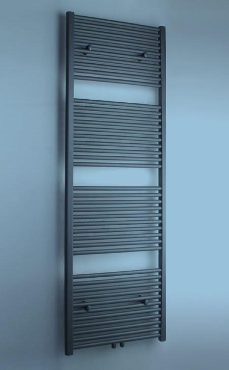 Belrad Aloni handdoekradiator middenaansluiting, antraciet grijs, diverse maten