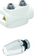 Heimeier onderblokset Multilux-4 compleet wit, haaks/rechts
