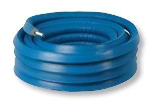 Henco alupex buis 20x2 met isolatie blauw 10mm, rol 50 meter