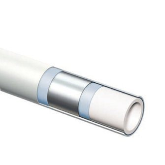 Henco alupex buis 26x3 met isolatie blauw 6mm, rol 50 meter