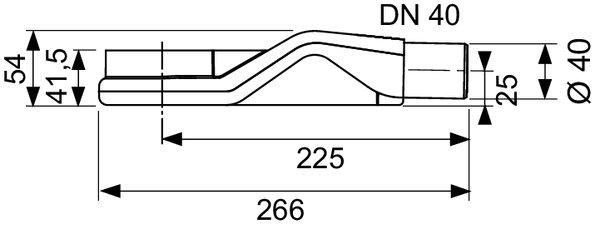 TECE Drainline sifon ''superlaag'' 40mm horizontaal