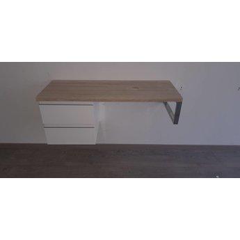 Licht Eiken Side Table.Sanitairo Licht Eiken Badmeubelmodule 120cm