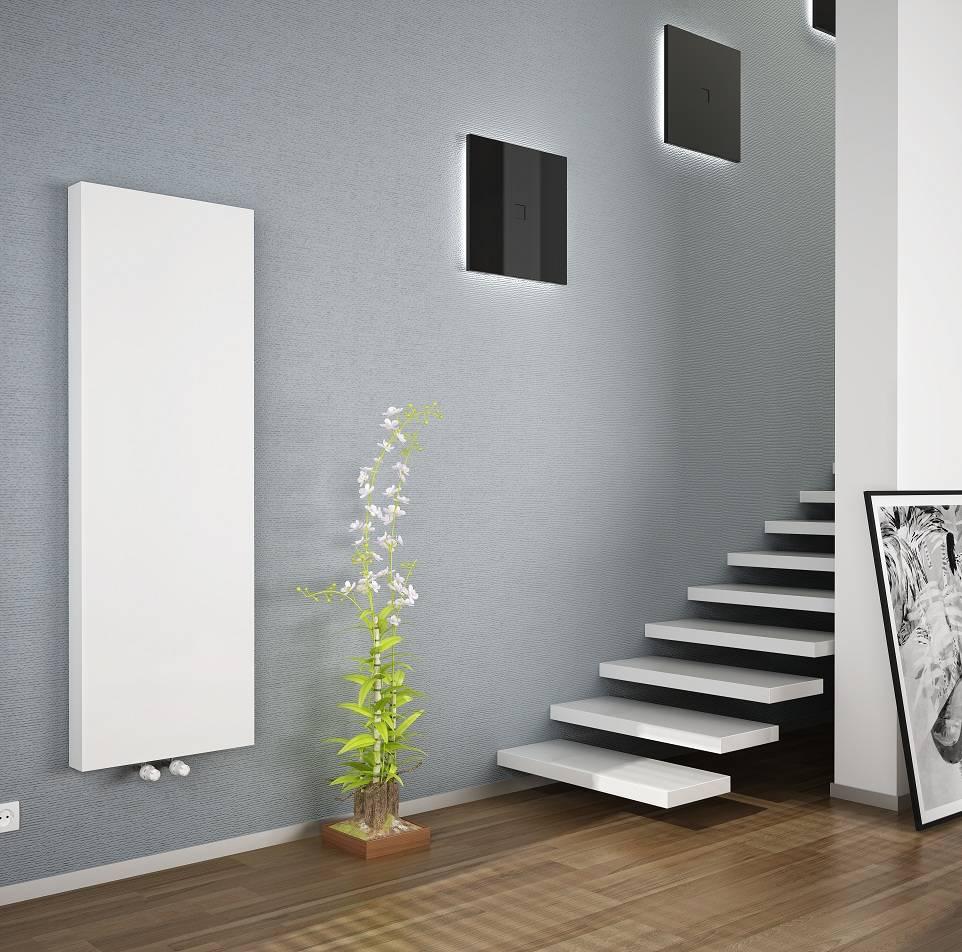 Copa verticale radiator T20, diverse maten, inclusief bevestigingsset, vlakke voorzijde, kleur wit