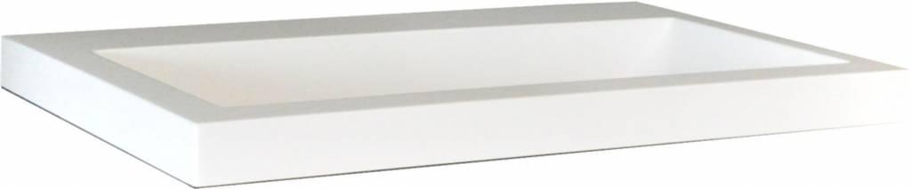 Wiesbaden Wiesbaden wastafel 60cmx36cm zonder kraangat wit