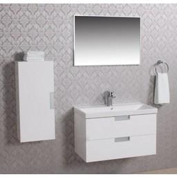 Wiesbaden Wiesbaden 2 meubel 80 +ker.wast.+spiegel + kast wit