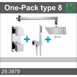 Wiesbaden One-Pack inbouwthermostaatset vierk.type 8 (30cm)