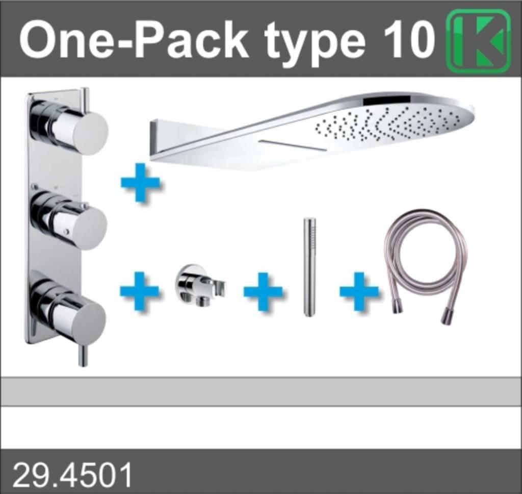 Wiesbaden One-Pack inbouwthermostaatset type 10 (25x60)