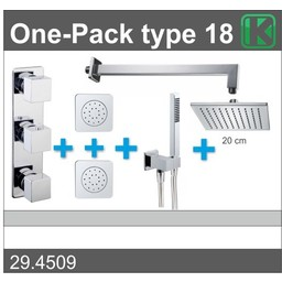 Wiesbaden One-Pack inbouwthermostaatset type 18 (20cm)